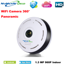 360 Degree smart panoramin IPC Wireless IP Fisheye Camera Support Two Way Audio P2P 960P HD wifi camera