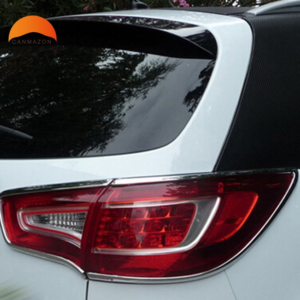 For Kia Sportage 2010 2011 2012 ABS Chrome Tail Light Cover back Lamp Cover Trim RearLight Decoration Sticker Auto Accessories цена