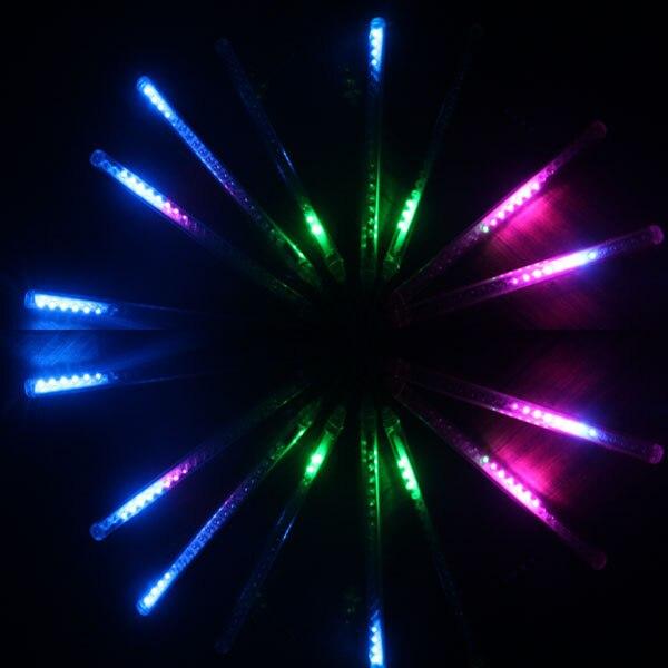 Открытый Рождество неоновые огни водопад огни красочные декоративные огни водонепроницаемый светодиодные фонари метеорный поток 240 лампы ...