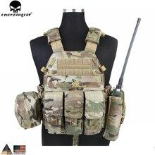 EMERSONGEAR LBT ยุทธวิธีเสื้อกั๊ก MAG POUCH Molle เสื้อกั๊กทรวงอกเสื้อกล้าม Airsoft Paintball กองทัพทหารต่อสู้เสื้อกั๊ก Multicam EM7440