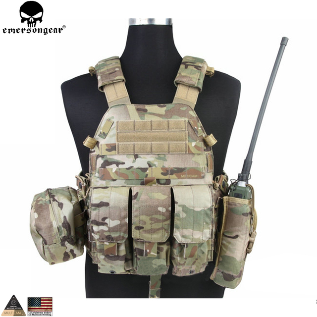 EMERSONGEAR LBT Tactical Weste Mit Mag Pouch Molle Chest Rig Weste Airsoft Paintball Military Armee Kampf Weste Multicam EM7440