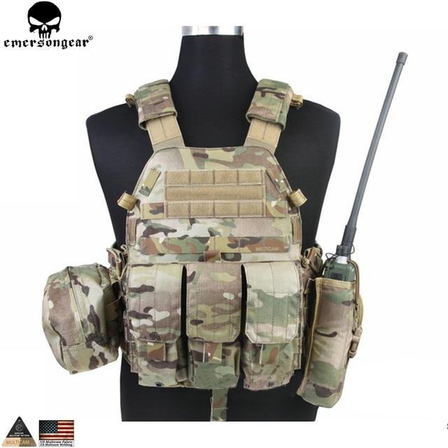 EMERSONGEAR gilet tactique LBT avec pochette Mag Molle, gilet de sangle de poitrine, gilet de Combat militaire Airsoft de Paintball, Multicam EM7440