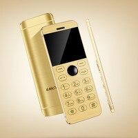 D'origine Ulcool V16 tactile clavier en métal corps bluetooth 2.0 dialer double SIM carte de crédit mini mobile cellulaire téléphone