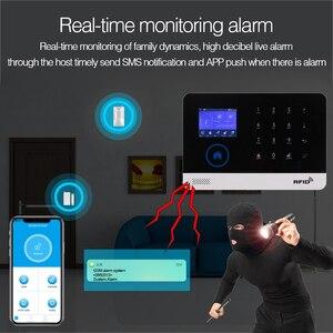 Image 4 - Wireless Home Security WIFI GSM GPRS Alarm system APP Remote Control RFID card Arm Disarm EN RU ES PL DE Switchable