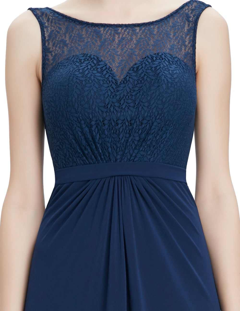 ... Navy Blue Mother of the Bride Dresses Ever-Pretty EP08781NB Round neck  long sleeveless A ... e4d9256cef66