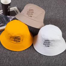 bf2405af95b8da LDSLYJR 2018 Cotton anti letter Bucket Hat Fisherman Hat outdoor travel hat  Sun Cap Hats for