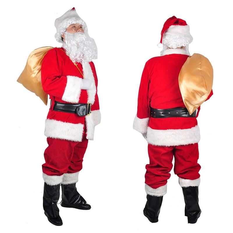 Noël père noël décorations maison épais Cosplay vêtements Costumes fête vêtements Costume Navidad noël Natal décoration Costume