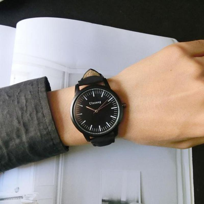 2018 Hot Sale Ulzzang Fashion Casual Leather Wrist Watch Hours for Men Women Unisex Students Brown Black hot horloge new desigh hot sale colorful boys girls students time electronic digital wrist sport watch 2017may10