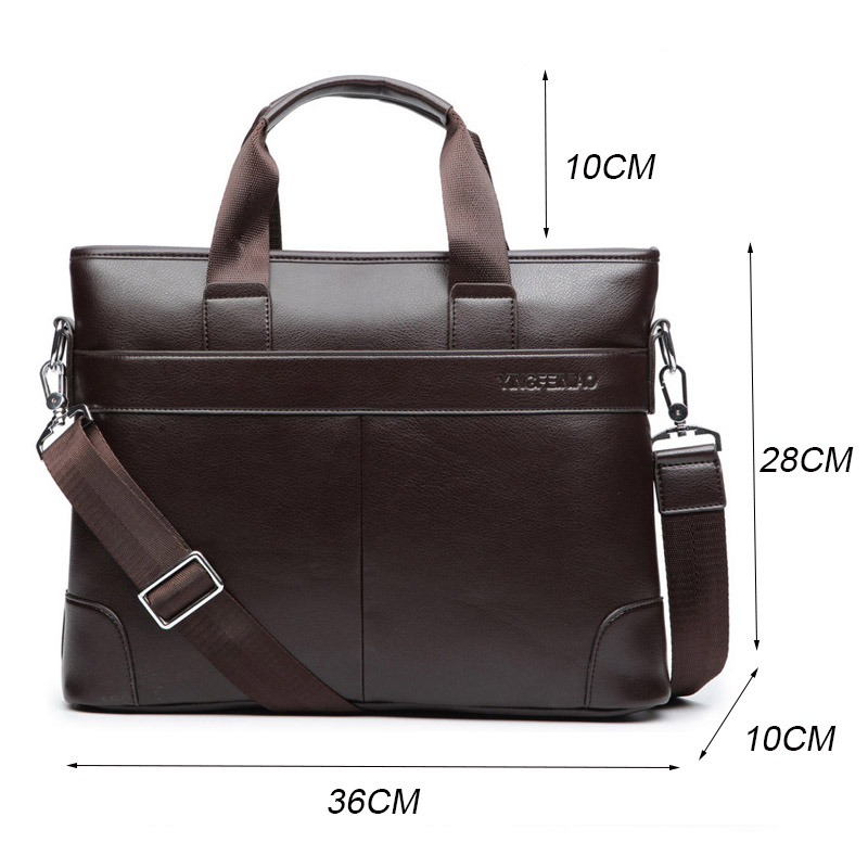 2020 Men s Business Black Casual Bag pu leather Briefcase men s Tote bags Brown High 2020 Men's Business Black Casual Bag pu leather Briefcase men's Tote bags Brown High quality male Business large capacity