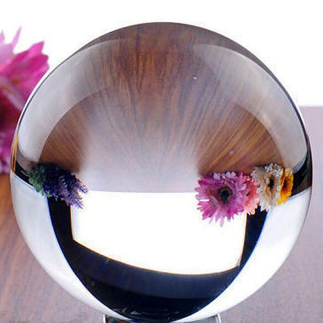 40mm Trasparente Circolare Magia Artificiale di Cristallo Guarigione Quarzo Trasparente Sfera Della Sfera di Pietra per la Casa Buona Fortuna Decorazione
