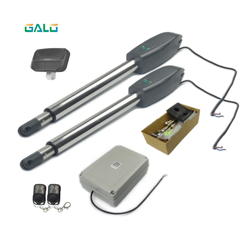 Electric Gate Kits >> Us 187 06 6 Off Auto Electric Gates Electric Swing Gate Opener Motor 2 Arm With Remote Control Use For Butterfly Gate In Access Control Kits From