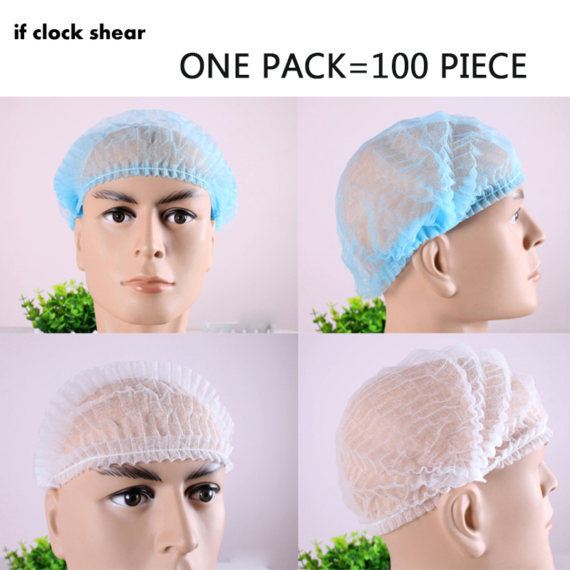 IF Hot Disposable Cap Headgear Cap Non-woven Hat Chef Hat Kitchen Fume Lamp Hat Dust Cap One Pack Of 100
