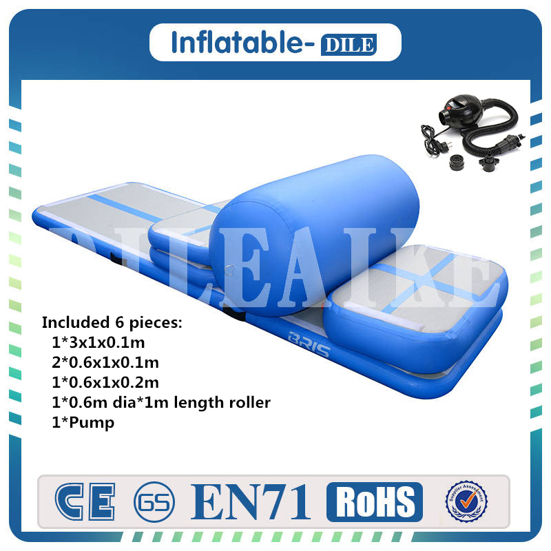 Free Shipping A Set (6 Pieces) Inflatable Air Track