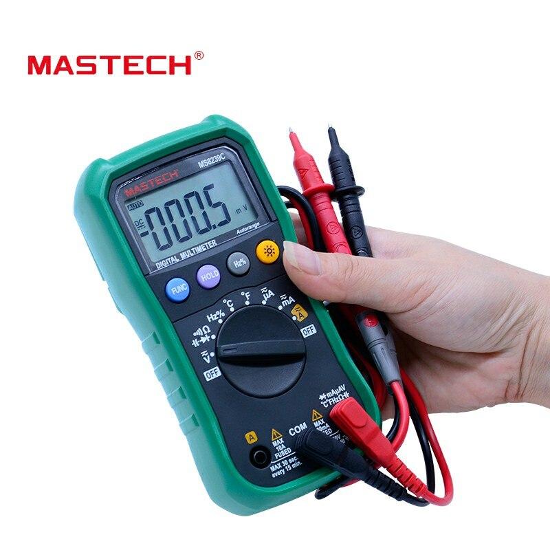 Tools : MASTECH MS8239C Digital Multimeter AC DC Voltage Current Capacitance Frequency Temperature Tester Auto range Handheld 3 3 4