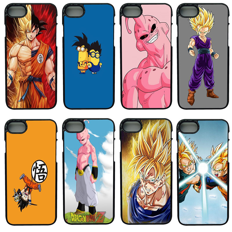 Dragon Ball Z Goku Cell Phone Cases Hard Plastic Shell Protect Phone Cover for iphone 8 7 6 6S PLUS X 5S 5 SE iPod Touch 4 5 6