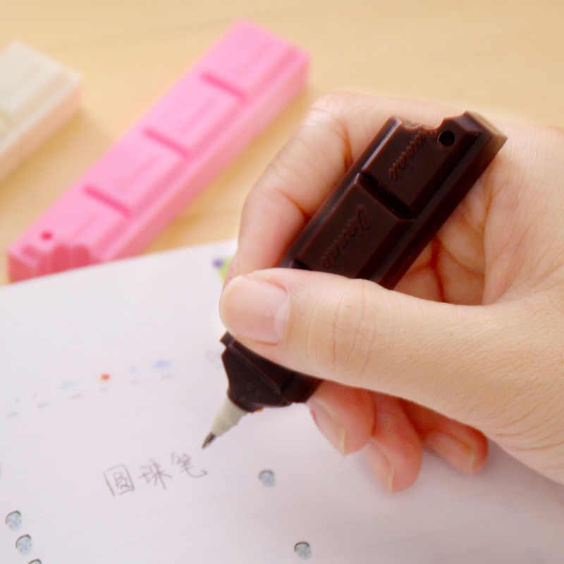 חמוד סימולציה שוקולד כדורי עט תלמיד בית ספר עט משרד כתיבה כדור עט אישית מתנת פרסום עט