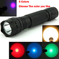 501B Yellow/Green/Red/Blue/UV LED Light 300 Lumen XPE Lanterna Portable Flashlight Torch For Outdoor Hunting Tactical Flashlight