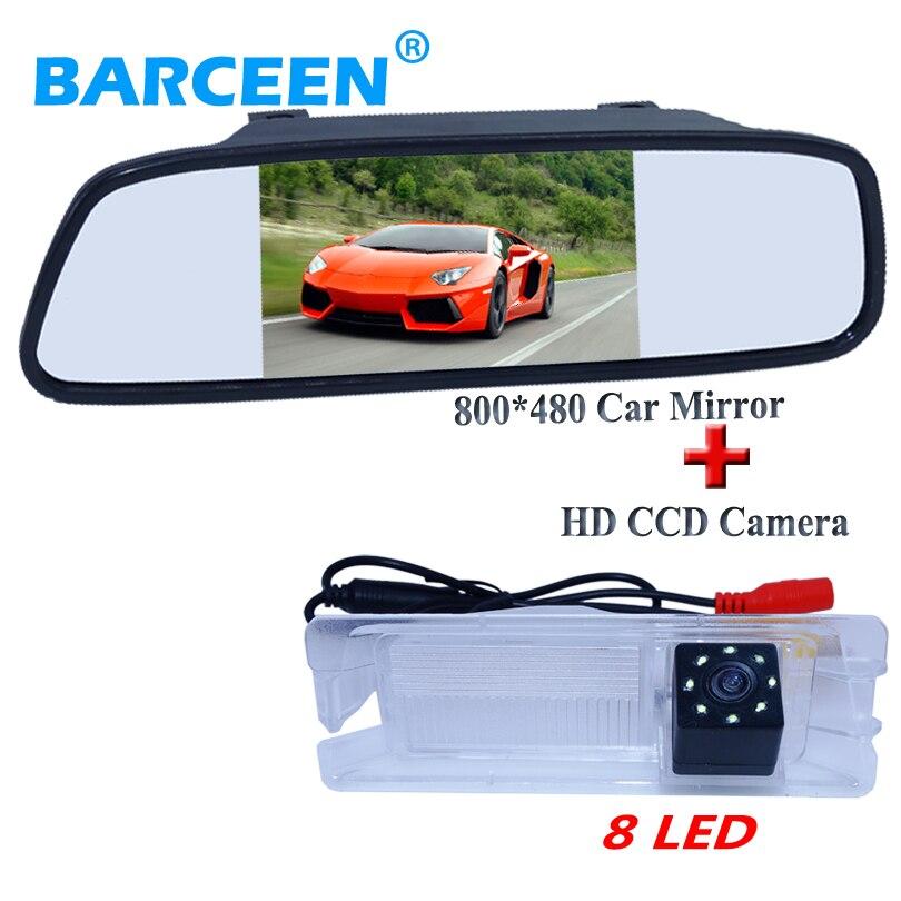 Auto parking caméra 8 led ccd image + 5 voiture miroir monitorUse pour  Nissan Mars pour Renault Logan pour Renault Sandero 44c2a020211