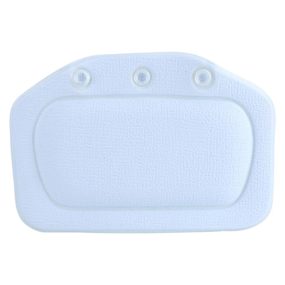 Soft Foam Padded Spa Bath Pillow Tub Headrest Head Neck Back Suction ...