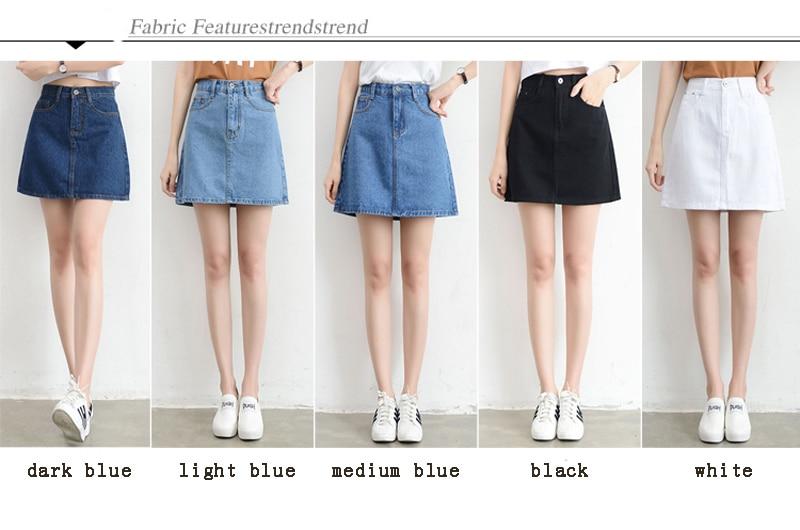 Lucyever Fashion Korean Summer Women Denim Skirt High Waist Black Mini Skirts Package Hip Blue Jeans Harajuku Plus Size Cotton 2