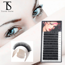THINKSHOW 10 Cases Korea Silk Volume Lashes Extension Eyelash Natural Individual Cilia False Eyelashes Supplies