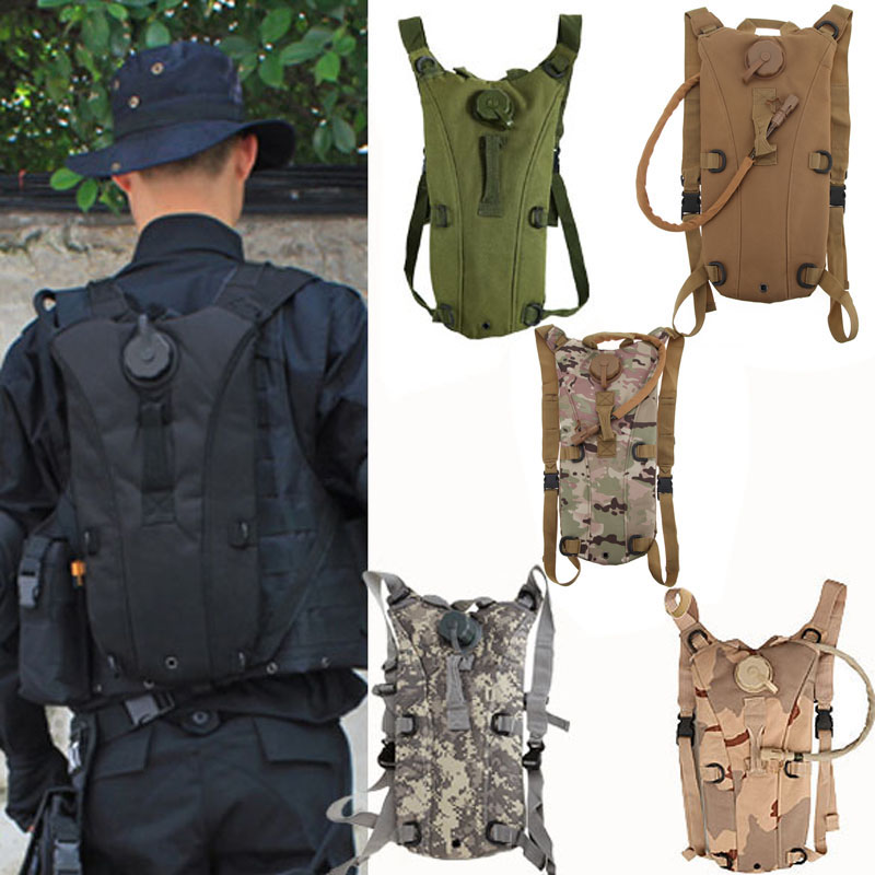 2.5L/3L Tactical Outdoor Hydration Water Carrier Bag Travel Backpack Drinking Water Bottle Knapsack Waterproof Camping Bag