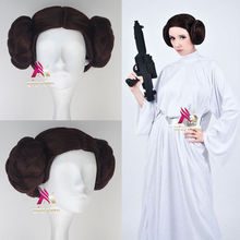 Free shipping !!!  Star Wars Organa Leia Leah Princess Cosplay animation wig