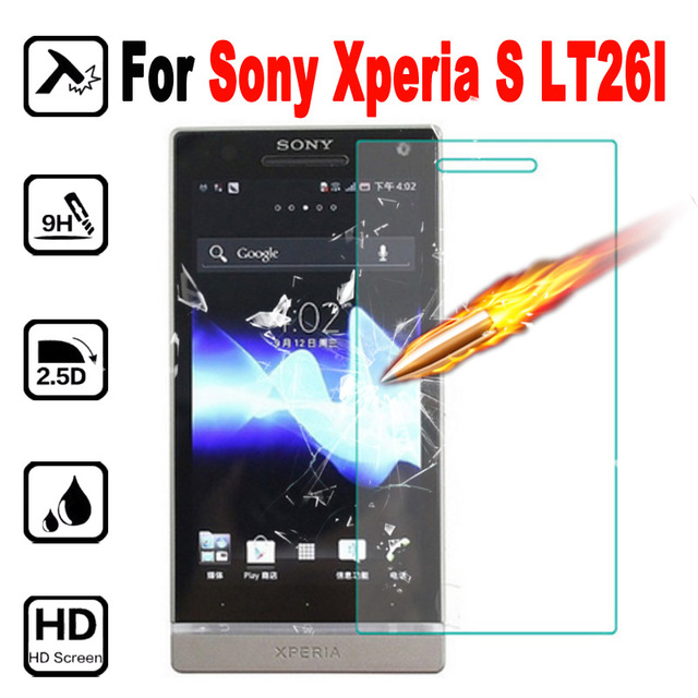 XperiaS Premium Screen Protector Phone Protective Film cover for Sony Xperia S SL Lt26 Lt26i Tempered Glass with Clean Tool case