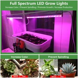 Image 5 - 110V 220V LED לגדול אור T5 צינור מלא ספקטרום LED נוקשה בר אור מקורה Phytolamp עבור צמח אקווריום חממה לגדול אוהל 5pcs