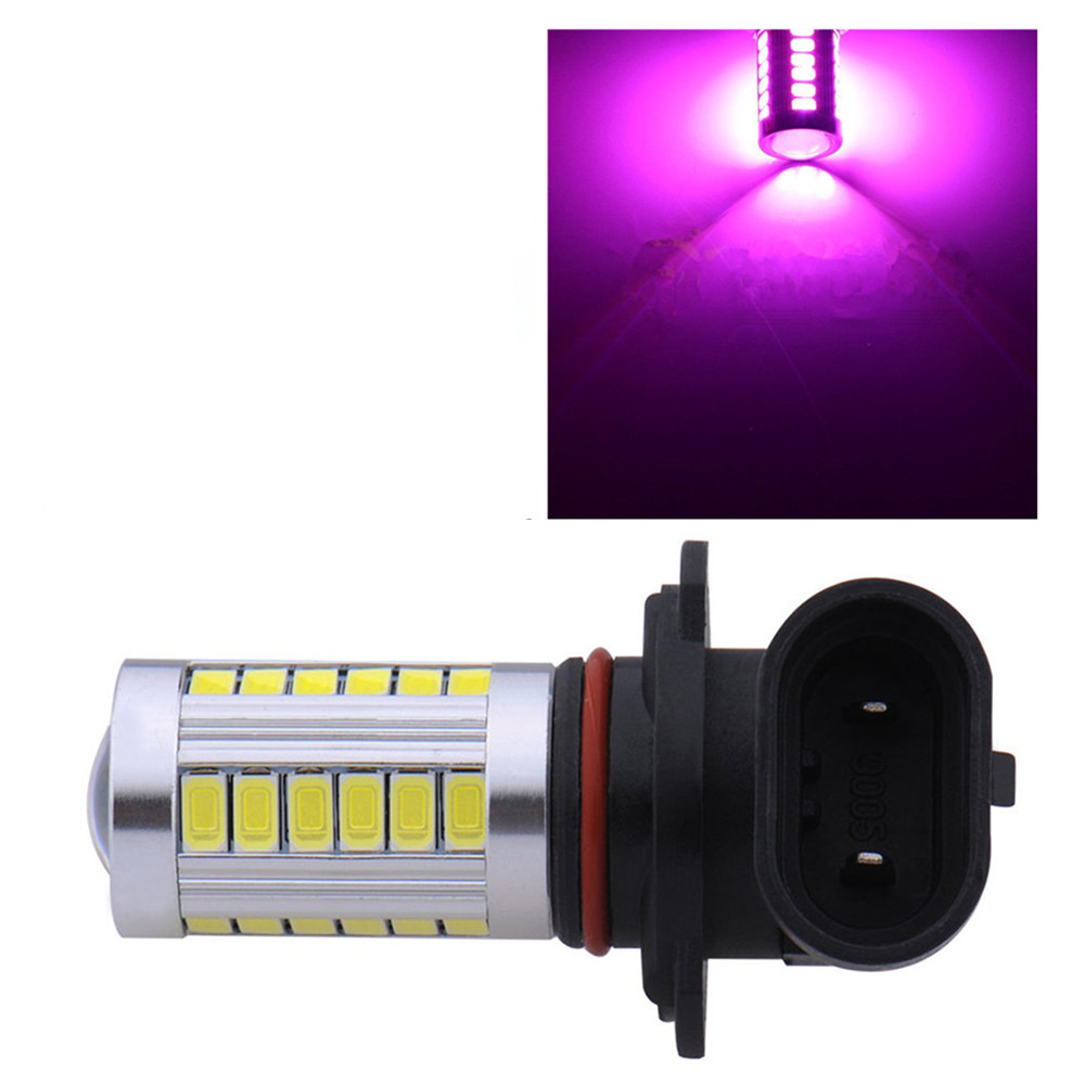 1pc 9005 HB3 9145 Pink Purple DRL Daytime Running Light Bulbs 33Chips Led Projector 33 SMD DC 12V
