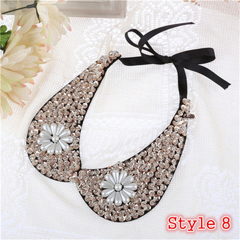 Fashion Women's Sequined Choker Necklaces Jewelry Necklaces Women Jewelry Metal Color: Style 8