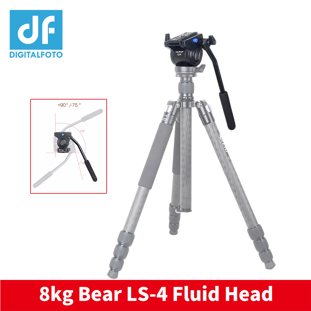 Professional Video Camera Fluid Drag Tripod Head with Quick Release for Canon Nikon Sony DSLR Camera Camcorder Shooting xiletu ls 4 handgrip video photography video camera fluid drag tripod head with quick release for dslr camera camcorder shooting