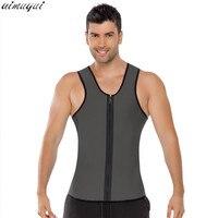 Men Ultra Sweat Thermal Muscle Shirt Hot Shapers Neoprene Slimming Body Shaper Belly Waist And Abdomen