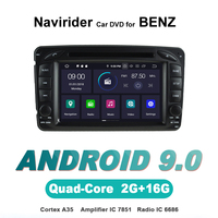 Navirider OS 9.0 Car Android Player For Benz W203 CLK W209 W163 W639 stereo radio gps navigation TDA7851 Amplifier sound System