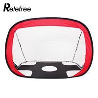 relefree 1 pcs Big Grid Bule Red Ball Sports Outdoor Goal Soccer Net Durable Practice Net Football Net Portable Goalkeeper