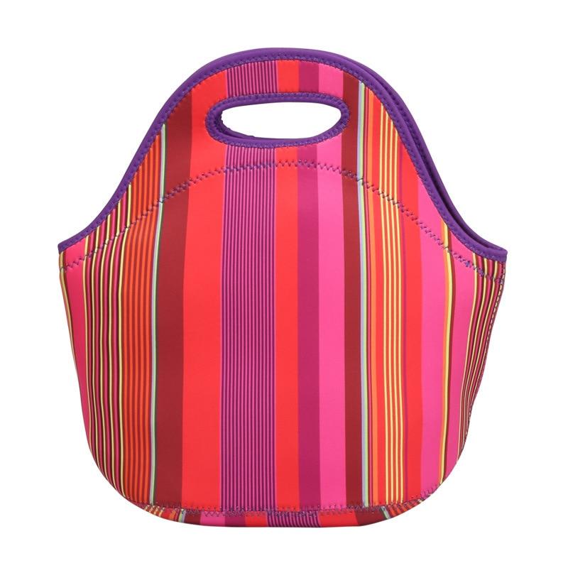 Neoprene Lunch Bags for Women Men Kids Dog Dots Waterproof Thermal Thermo Insulated Bolsa Termica School Picnic Foods Handbag