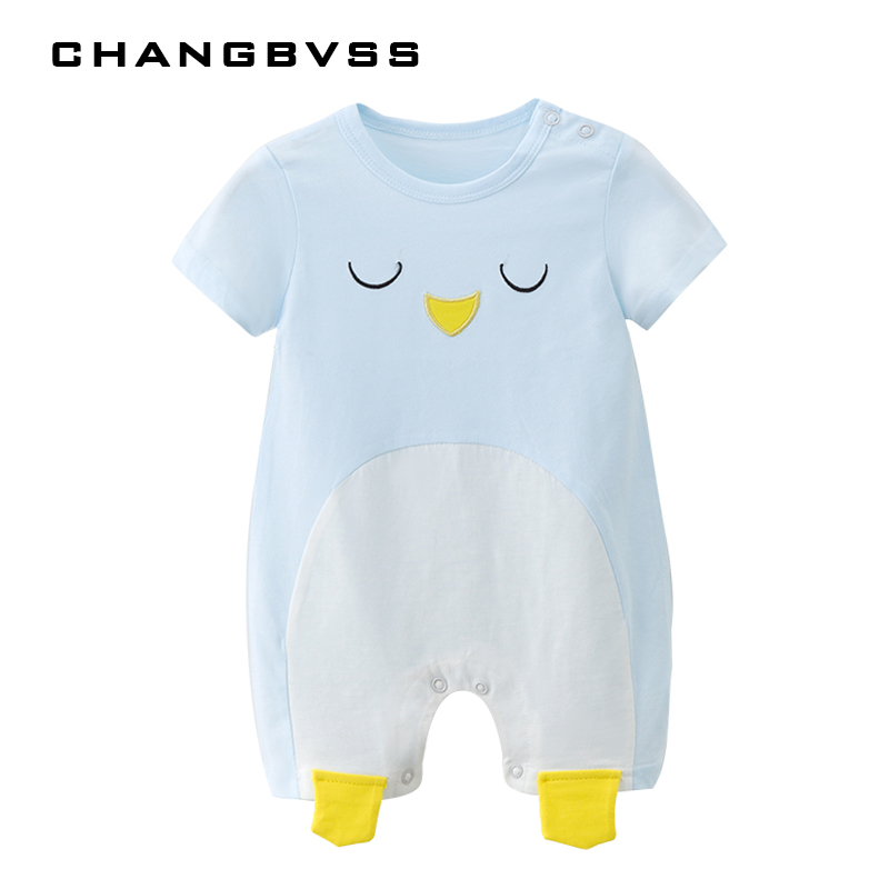 2018 Cotton Girls Romper For New Born Kawaii Cartoon Boys Clothes Summer Infant Baby Rompers Baby Jumpsuit Roupas de bebe Outfit
