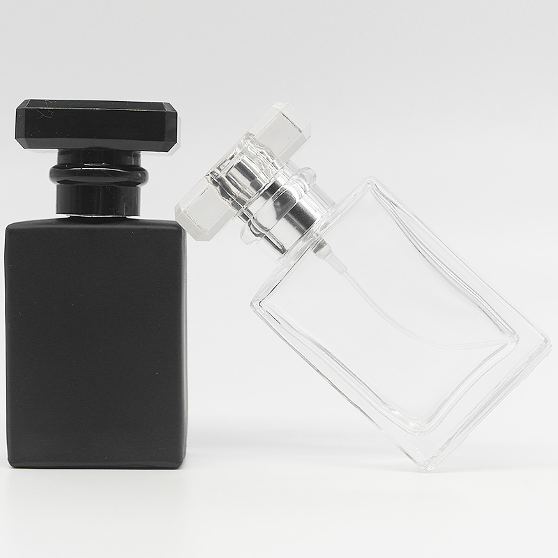 30ml Glass Empty Perfume Bottles Square Spray Atomizer Refillable Bottle Scent Case With Travel Size Portable