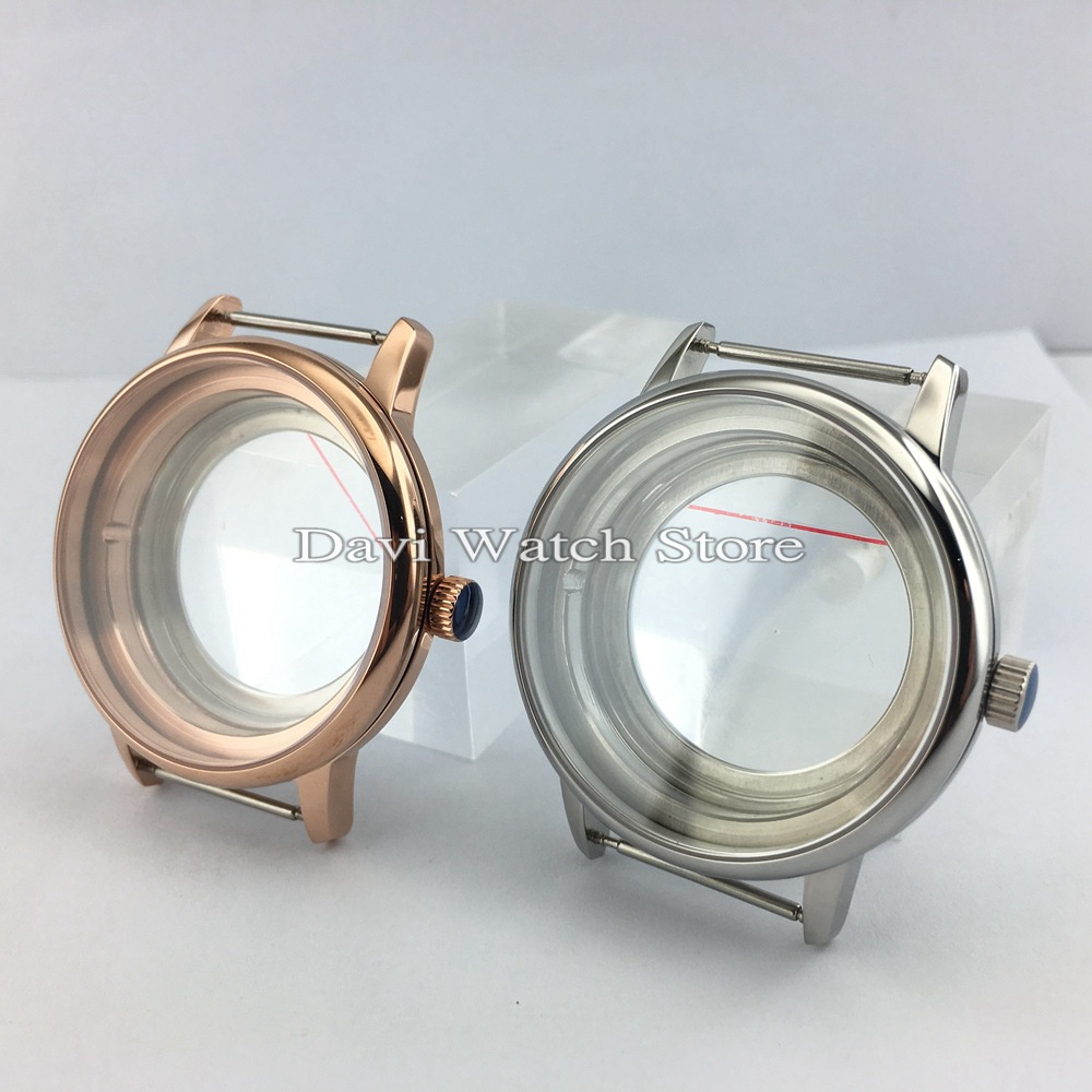 40mmFit Miyota8205/8215/821A  DG2813/3804 Movement Stainless Steel Silver&Rose Gold Watch Case|case case|silver silver|case rose gold - title=