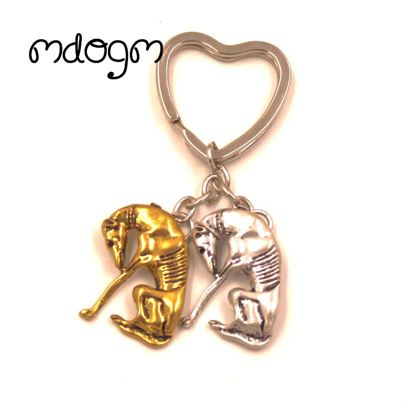 2018 New Cute Greyhound Dog Animal Gold Silver Plated Metal Pendant Keychain For Bag Car Women Men Key Ring Love Jewelry K141