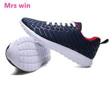 new men running shoes breathable sport shoes male athletic outdoor sneakers zapatos de hombre Striped support shock absorption