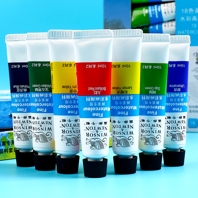 Winsor&Newton 12/18/24Colors Water Color Painting Set High Quality Transparent Watercolor Pigment For Artist School Student