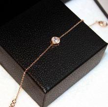 Простой Универсальный циркониевый браслет женская бижутерия
