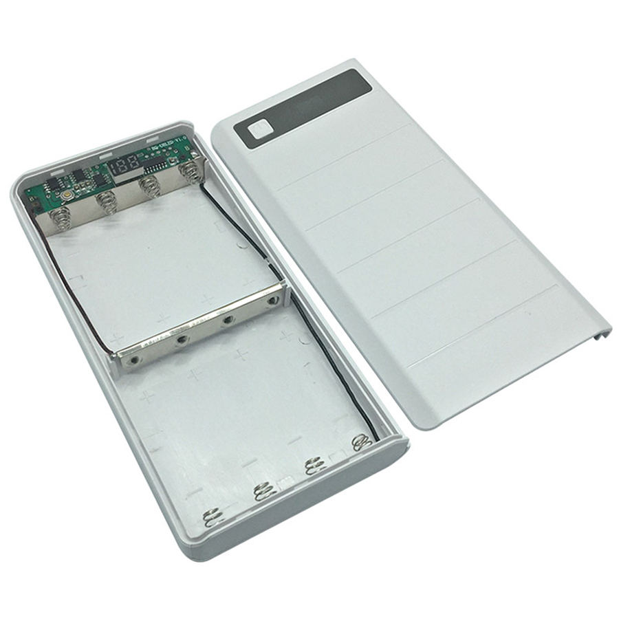 Battery Box Type C input 2 USB Ports 8x18650 DIY Battery Box With LED Display Power Bank Case (no battery)
