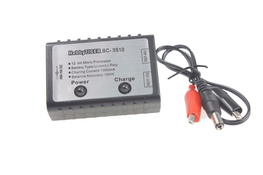 F05669 2S 3S Cell RC Battery Balance Charger For 7.4V 11.1V AKKU Helicopter Quadcopter 3pcs battery and european regulation charger with 1 cable 3 line for mjx b3 helicopter 7 4v 1800mah 25c aircraft parts