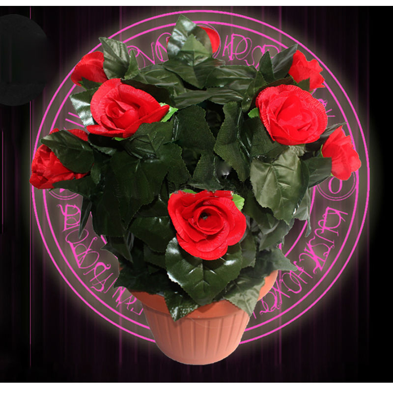 real life room escape prop amazing flower props keep on touching the sensor flower blooming out open lock game prop