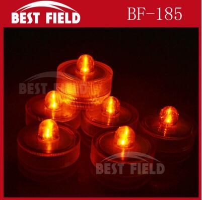 48 шт./лот беспламенного свеча свет погружной водостойкий светодиодная свеча-таблетка огни батарея работает Свадебная ваза - Цвет: yellow