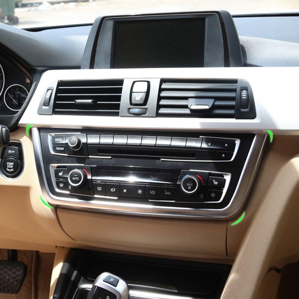CITALL хромированная панель передней центральной консоли u-образная Накладка для BMW 3 4 серии F30 F31 F32 F34 F36 316 318 320 420 2013