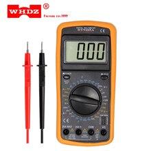 Multímetro digital profissional whdz dt9205a, amperímetro elétrico portátil, voltímetro, resistência, capacitância hfe testador ac dc lcd