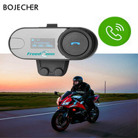 2pcs Original FreedConn T COM SC Bluetooth Motorcycle Helmet Intercom Interphone FM Radio Headset Soft Microphone